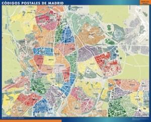 madrid mapa códigos postales
