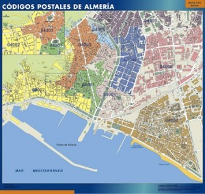 almeria mapa códigos postales