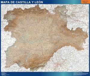 mapa mural castilla y leon