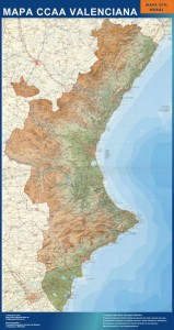 mapa comunidad valenciana mural