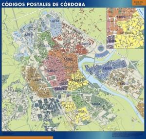 Cordoba mapa códigos postales