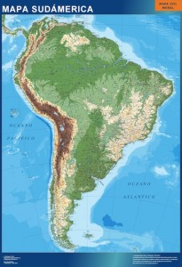 sudamerica mapa mural