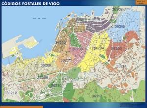 Vigo mapa códigos postales