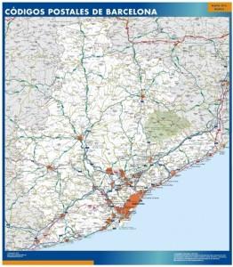 barcelona provincia mapa códigos postales