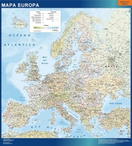 Mapa Mural Europa Politico