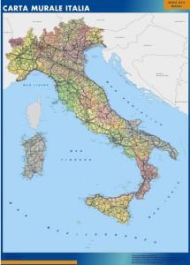 Italia mapa mural