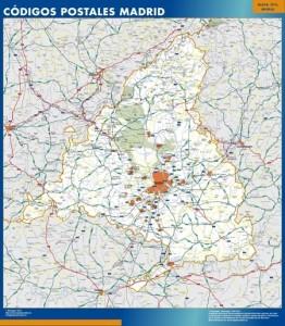 madrid provincia mapa códigos postales