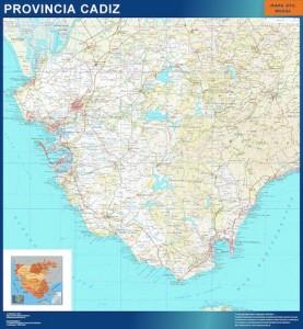 mapa cadiz carreteras