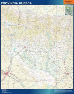 mapa huesca provincial