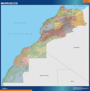 Mapa Mural Marruecos
