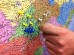 mapas para chinchetas