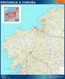 Mapa Mural a coruna