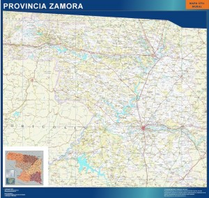 mapa provincia Zamora