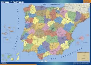 Mapa espana provincial grande