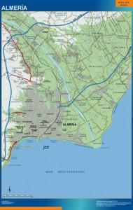 mapa Almeria accesos