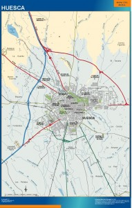 mapa Huesca accesos