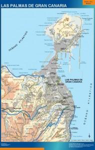 mapa Las Palmas accesos