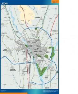 mapa Leon accesos