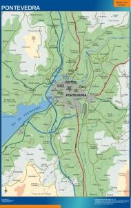 mapa Pontevedra accesos