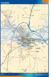 mapa Toledo accesos