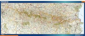 mapa pirineos