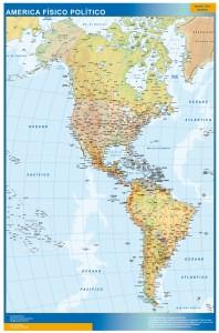 mapa america fisico politico