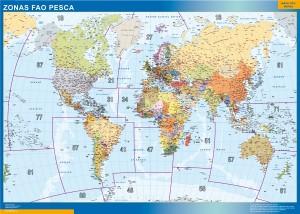 mapa zonas fao pesca
