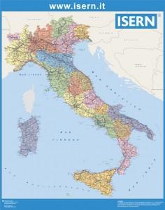 Mapa Italia regiones