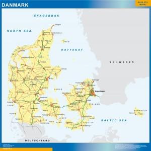 mapa dinamarca carreteras
